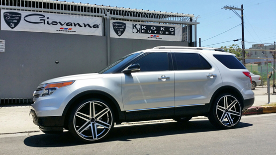 This Ford Explorer Is A Sports Utility Vehicle Sitting On Giovanna Rims Called Dramuno 6 Featuring Black Paint Finish With Machined Face